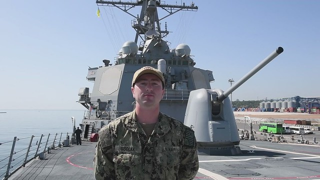 Howell, NJ Sailor Shouts Out from Ukraine during Multinational Maritime Exercise