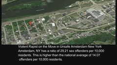 Violent Rapist on the Move in Unsafe Amsterdam New York