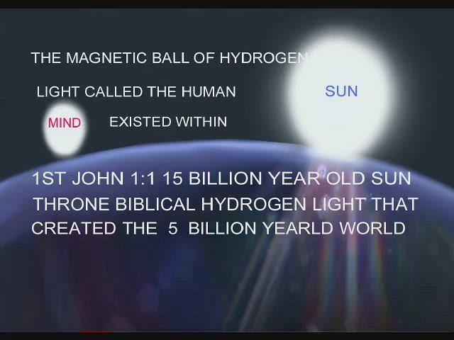 ofthe magnetic rotatingball of hydrogen light called thehumanmindof the biblicallightthatcreated the world 1