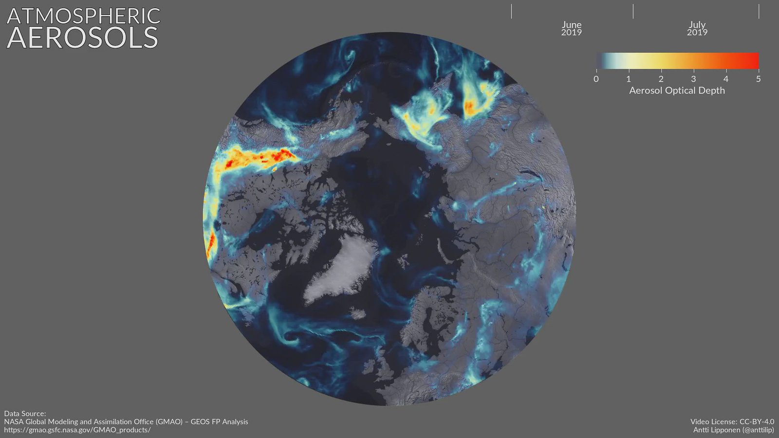 Atmospheric Aerosols June-July 2019