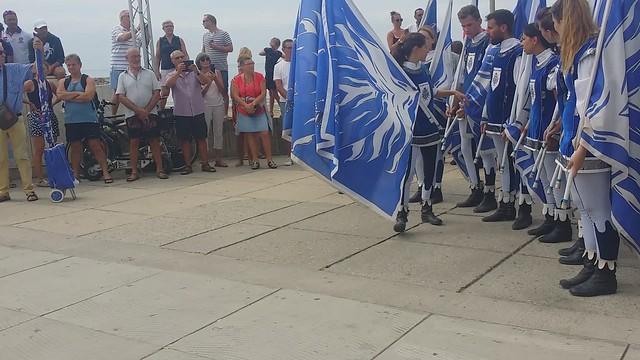 A la Grande*Motte⭐ Fabuleux⭐  Musiciens et lanceurs de drapeaux de⭐   Borgo san Lorenzo di Alba