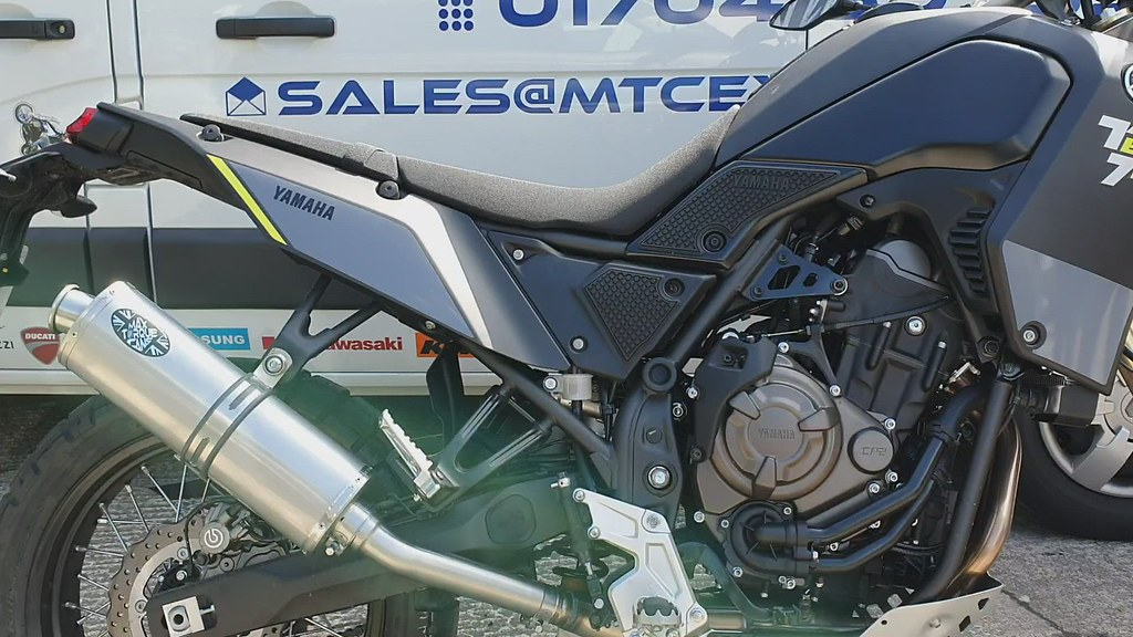 Yamaha Tenere 700 Motorcycle Exhaust by Max Torque Cans Burscough