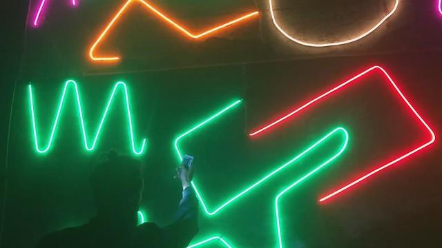 VIDEO / Interactive Neon Mural #1