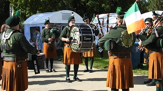 Seen at the Penrod Arts Fair:  Bagpipers and drummers