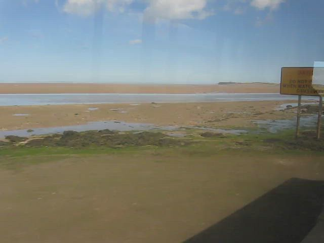 Crossing the Holy Island causeway