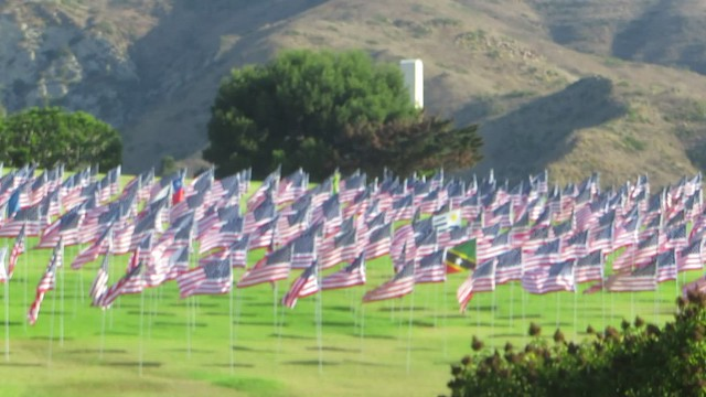 Pepperdine's 9/11 flags