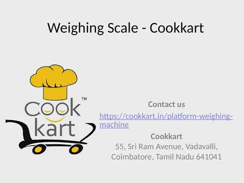 Platform Weighing Scale - Cookkart
