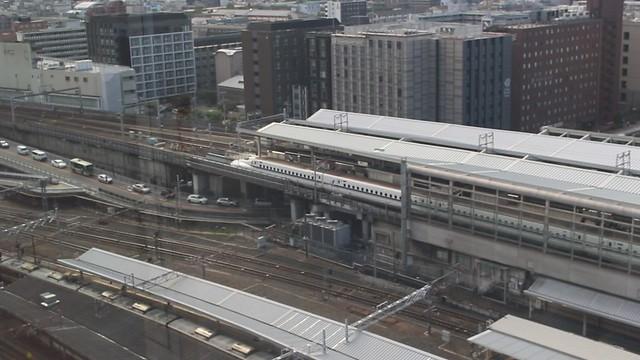 MVI_6500 Nozomi train leaving Kyoto station