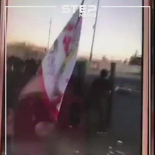 قنص متظاهر عراقي أمام الكاميرا