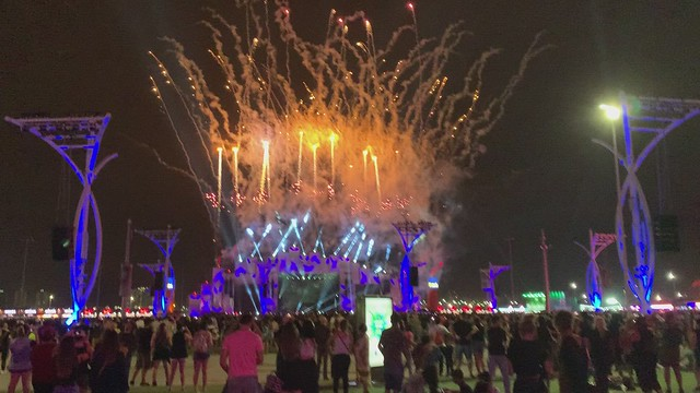 Fireworks for the end of Rock in Rio 2019, after Muse.