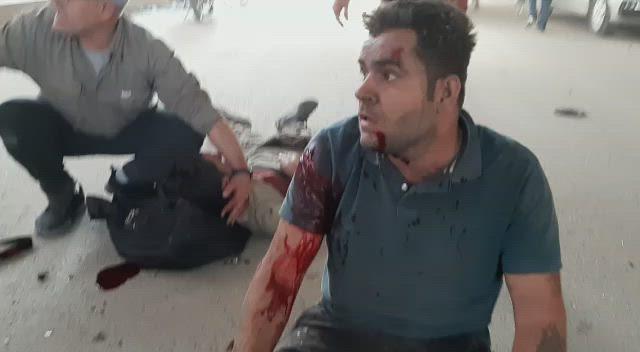 لحظات مروعة من قصف تركي على قافلة مدنيين برأس العين