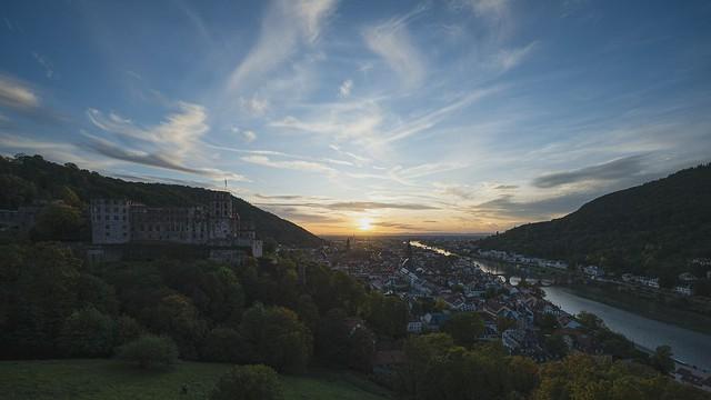 Timelaps Heidelberg Sunset