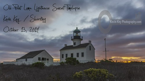 Sunset To Dusk Timelapse at the Old Point Loma Lighthouse.