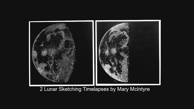 Lunar Sketching Timelapse by Mary McIntyre