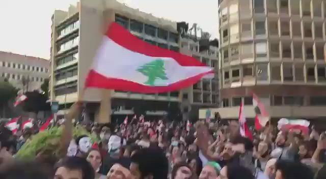 رد فعل متظاهرين في لبنان على خطاب حسن نصرالله.__#الرؤية_بلا_حدود https___t.co_eoV9q5HebY.TWsaver.com