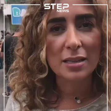 """متظاهرة لبنانية """"مش قادرة اعمل بوتوكس، حرام عليكم"""""""