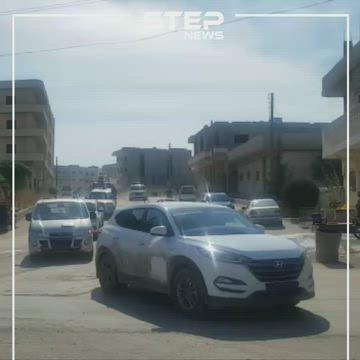 """رتل مشترك من قوات النظام والشرطة العسكرية الروسية يدخل مدينة عين العرب """"كوباني"""""""