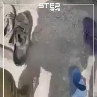 """بالفيديو.. جدال بين مقاتلي """"الجيش الوطني"""" بسبب خلع نقاب داعشيات"""