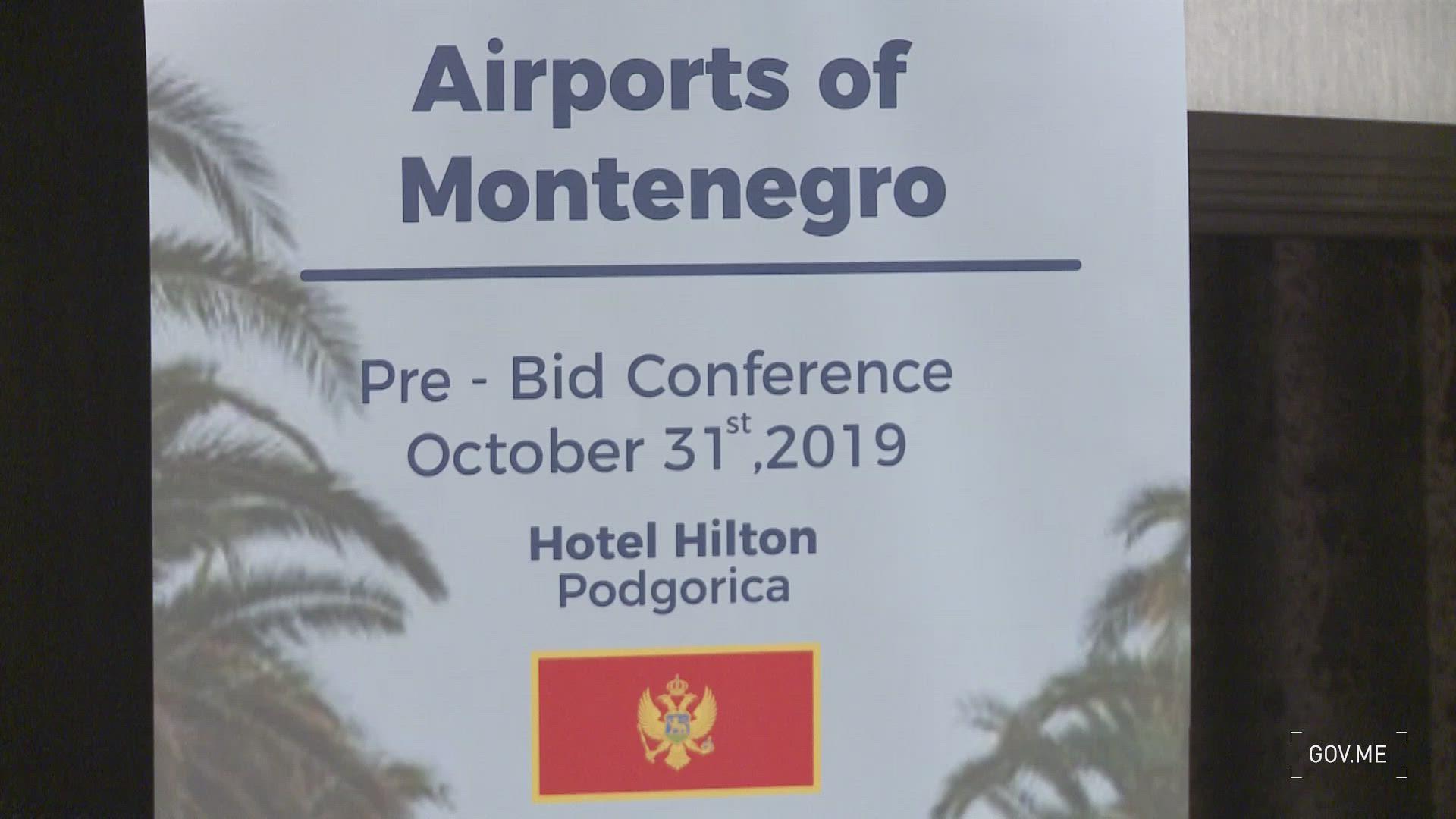 Milutin Simović - Predtenderska konferencija za dodjelu koncesije za aerodrome Crne Gore - kadrovi