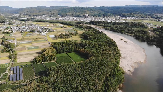 Autumn Aerial Walk-1-3, Kizu-gawa River @Kyoto,Oct2019