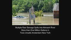 Multiple Raw Sewage Spills into Mohawk River More than One Million Gallons in Toxic Unsafe Amsterdam New York