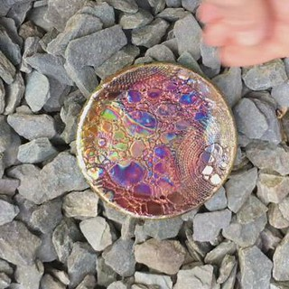Raku Dish by Jill of Kiln Fired Art