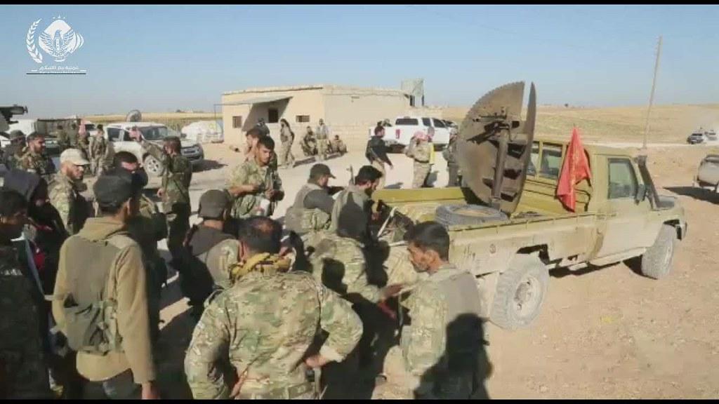 جانب من تقدم قوات الجيش الوطني وتحرير عدد من التلال الاستراتيجية في محيط تل تمر بعد دحر عصابات الاسد