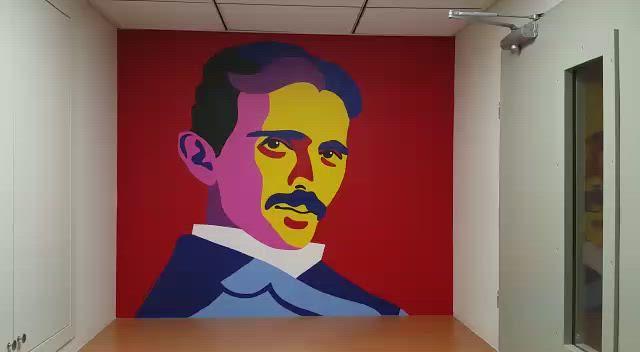 Maria Zaikina, Tesla hall mural in Technion (Israel Institute of Technology)