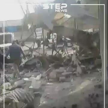فيديو || عشرات القتلى بمجزرة ارتكبها طيران النظام السوري بمدينة معرة النعمان
