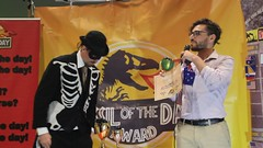 Richie Merzian from Australia brief comments accepting Australia's 5th #Fossiloftheday award #COP25 - Dec 12 - MVI_7258