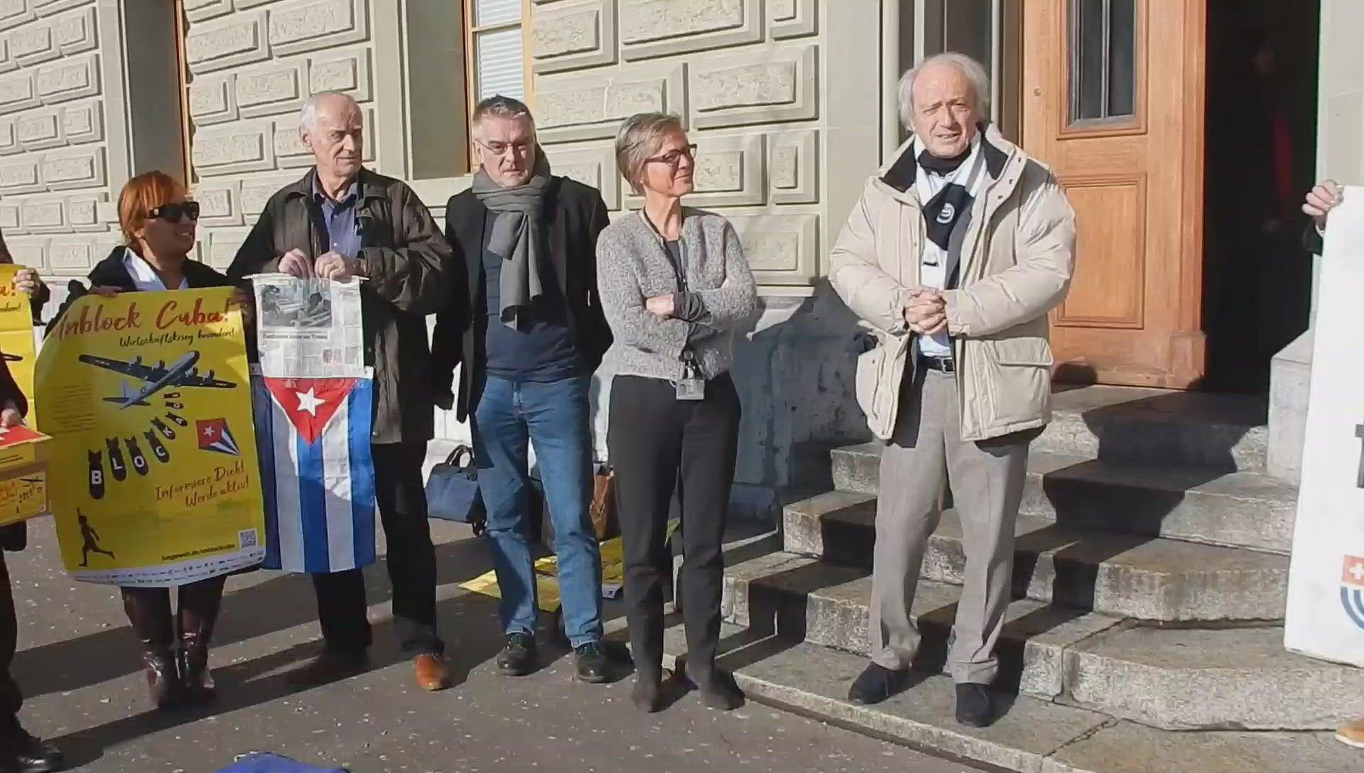 Petitiionsübergabe - Rede von Franco Cavalli