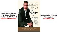 The Audacity of Hope by Barack Obama – Audiobooks , MP3