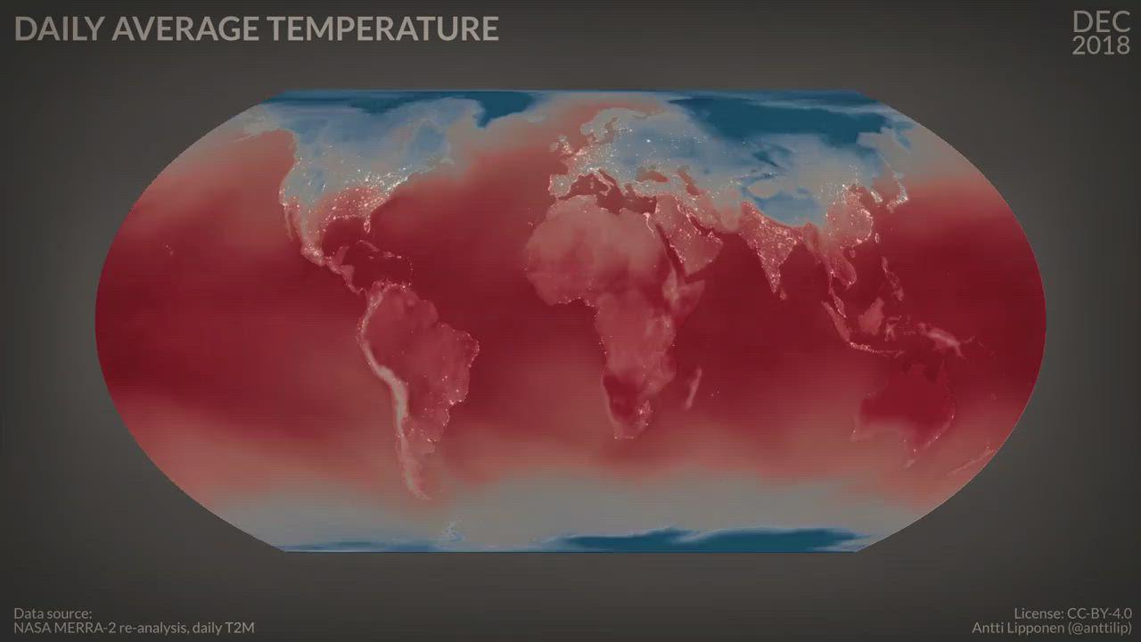 2m temperature Dec 2018 - Nov 2019