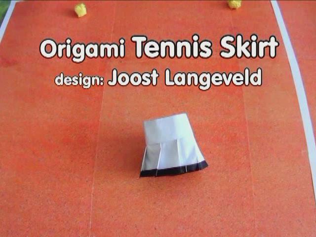 Origami Tennis Skirt