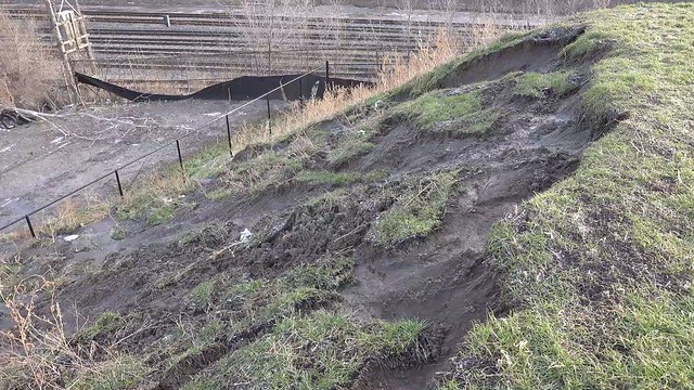 Slope Failure at Garrison Crossing