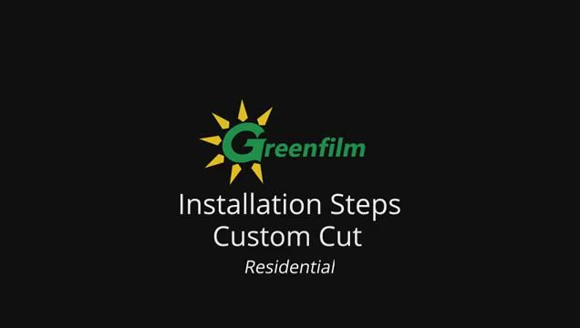 How to Install Static Cling Window Film for Residential Custom Cut Size | GreenFilm USA