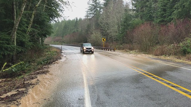 SR 410 MP 36 water over road