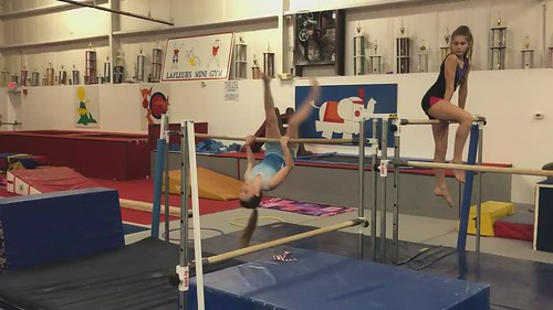 Granddaughter Alyssa excelling in her Gym Class