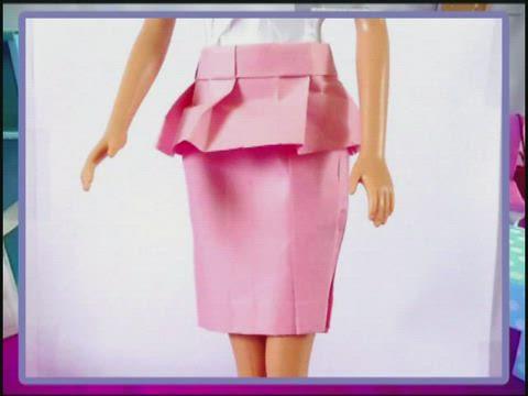 Origami Peplum Skirt