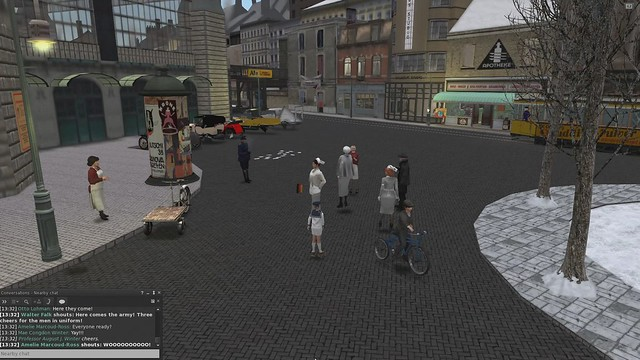 1920's Berlin parade in Second Life