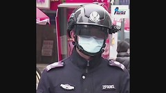 Chinese police wear AI helmets for temperature screening 2