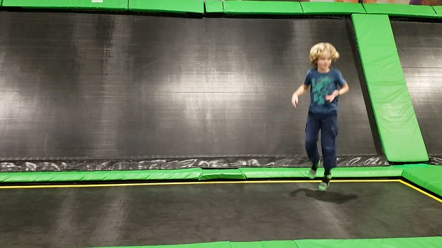 Everett Does A Flip On The Trampoline