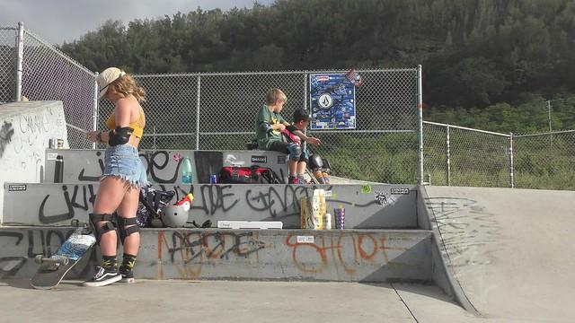 Skateboard Trick in Hawaii