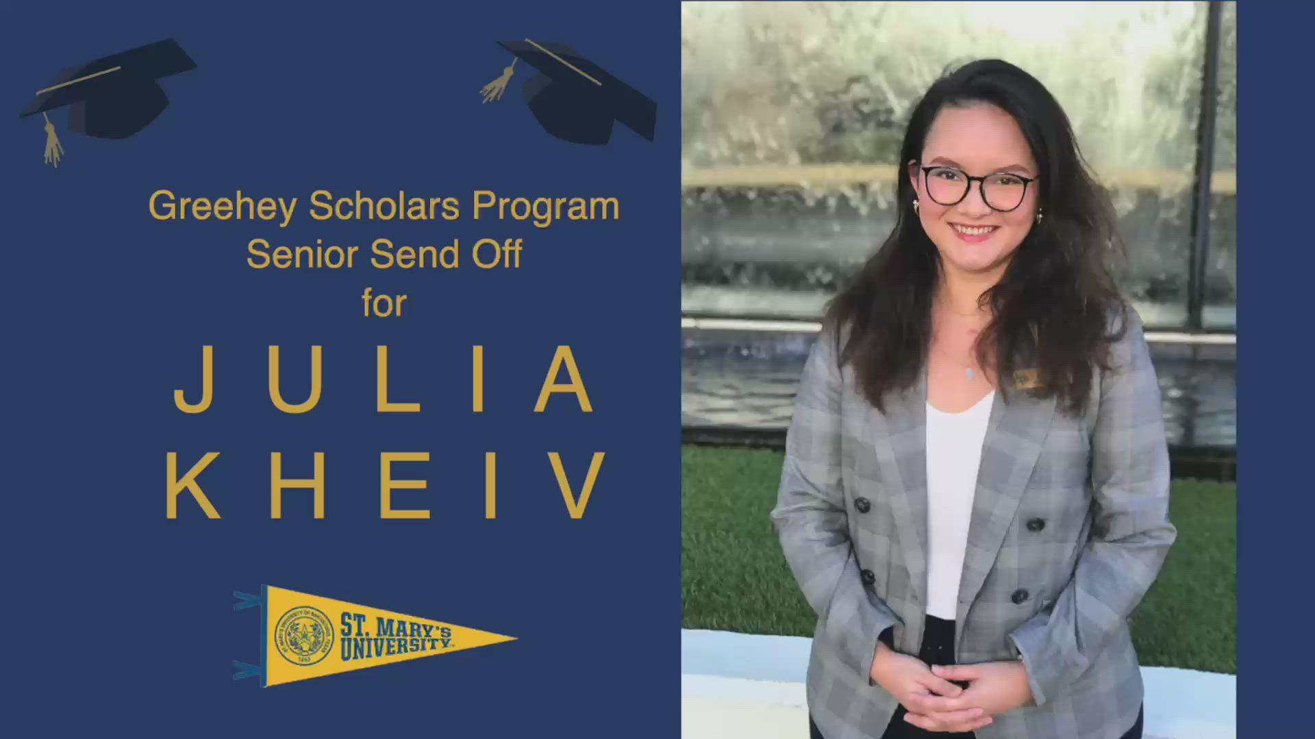 Julia Kheiv senior farewell video