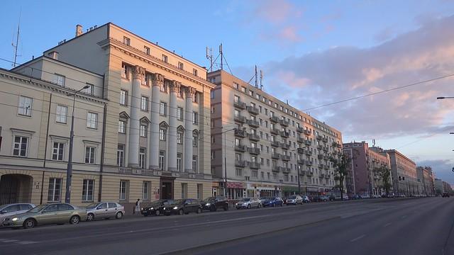 Nightfall in Warsaw