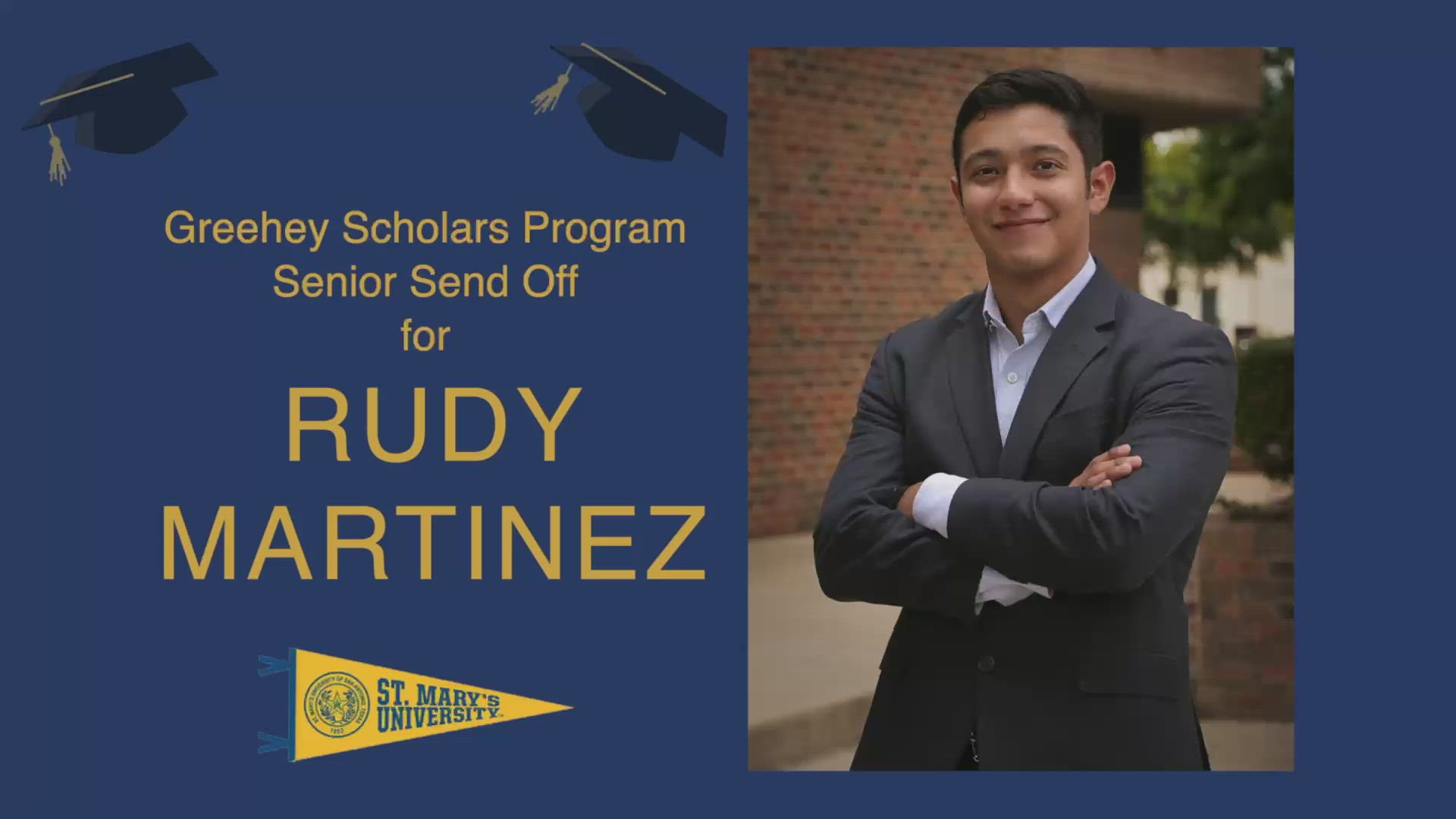 Rudy Martinez senior farewell video
