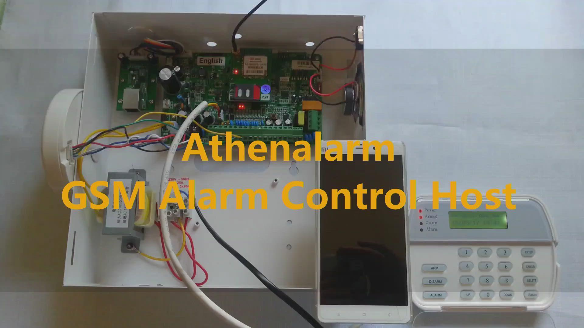 Athenalarm GSM alarm control panel