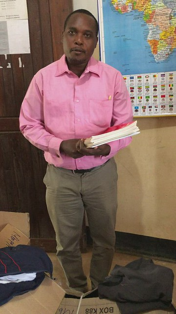 Mbopo School Head Master Thanks RfL supporters for the supplies from England