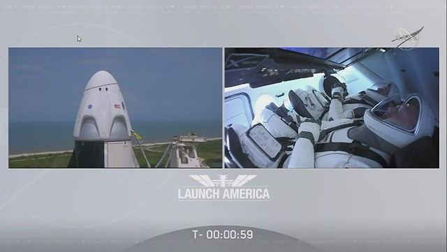 Successful Launch of Space X's Falcon 9 with Astronauts Aboard: May 30, 2020