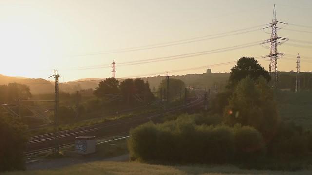 Morgens am Bahnhof Gruiten